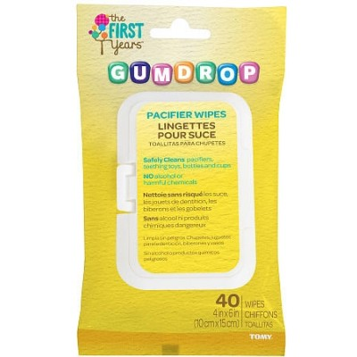 The First Years Gumdrop Pacifier Wipes - 40Sheets