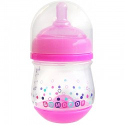 The First Years Gumdrop Wide Neck Anti-Colic Bottle 4oz Pink