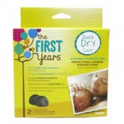 The First Years Quick Dry Care Reusable Nursing Pads (Nude / Black)