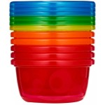 The First Years Take & Toss 8 oz Toddler Bowls with Lids (6-pack) - Purple/Pink/Orange/Yellow