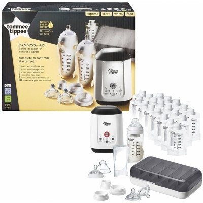 Tommee Tippee Closer to Nature Express and Go - Complete Breast Milk Starter Set