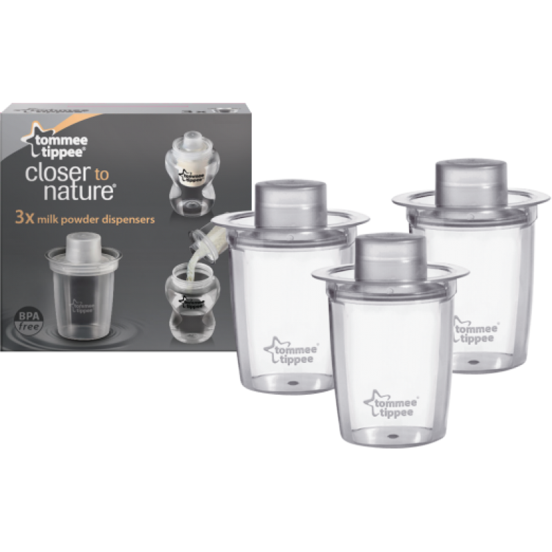 Tommee Tippee Closer To Nature Milk Powder Dispenser Pack Of 3