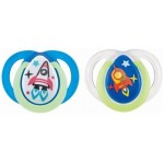 Tommee Tippee Closer to Nature Night Time Soother 0-6m (Twin Pack) (color may vary)