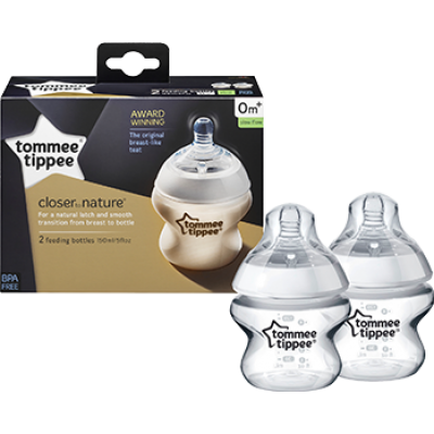 Tommee Tippee Closer to Nature Bottle 150ml/5oz (Twin Pack)