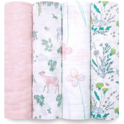 aden + anais Classic Swaddles 4-Pack - Forest Fantasy