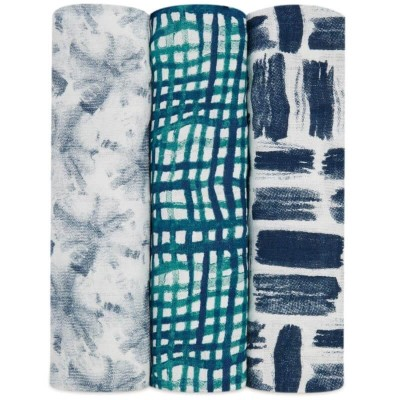 aden + anais Silky Soft Swaddles 3-Pack - Seaport