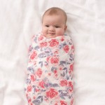 aden + anais White Label Silky Soft Swaddles 3-Pack - Watercolour Garden
