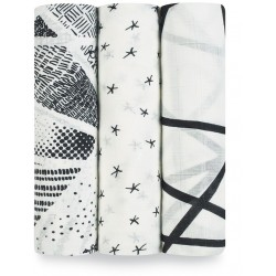aden + anais 3 Pack Bamboo Swaddling Wraps ..