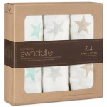 aden + anais Silky Soft Swaddles 3-Pack - Milky Way