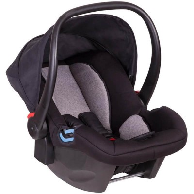 Phil & Teds Alpha Baby Car Seat - Black / Grey Marl