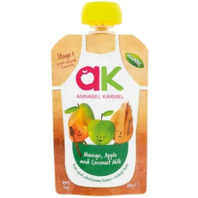 Annabel Karmel Organic Mango, Apple & Coconut Milk Puree 100g (6 mos+)