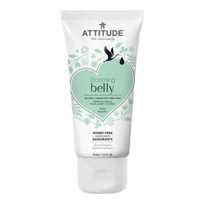 ATTITUDE Blooming Belly Natural Cream for Tired Legs - Mint 75ml