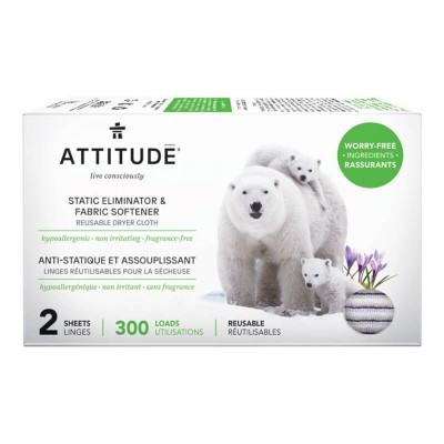 ATTITUDE Static Eliminator & Softener - 2 Sheets