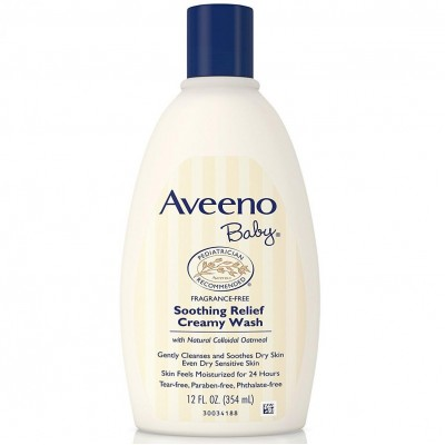 Aveeno Baby Soothing Relief Creamy Wash Fragrance Free - 12 fl oz.