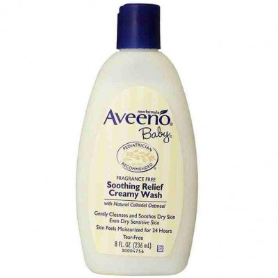 Aveeno Baby Soothing Relief Creamy Wash Fragrance Free - 8 fl oz.