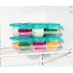 OXO Tot Baby Blocks Silicone Freezer Storage Containers - Teal 2oz