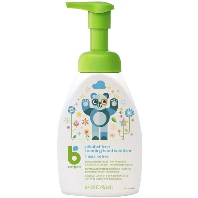 Baby Ganics Alcohol Free Foaming Hand Sanitizer Fragrance Free - 250ml Table-Top