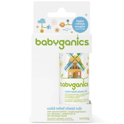 Baby Ganics Cold Relief Chest Rub Stick 18g