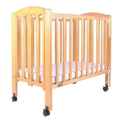 """Baby Star Easi Foldable Baby Cot with 2"""" Mattress - Natural / New Zealand Pine"""