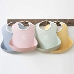 BabyBjorn Baby Bib 2-Pack - Powder Yellow/Powder Blue