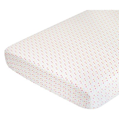 Babyletto Full Crib Fitted Sheet - Menagerie Confetti (Organic Cotton Percale) (132x71cm)