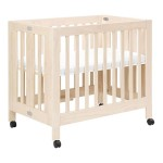 Babyletto Origami Mini Crib - Washed Natural