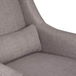 Babyletto Toco Swivel Glider and Stationary Ottoman - Grey Tweed