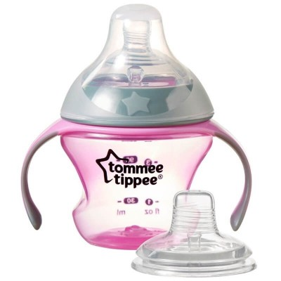 Tommee Tippee Babys 1st Soft Spout Transition Cup 150ml (4-7m) - Pink
