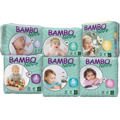 Bambo Nature Eco Baby Diapers (NB, XS, SM, MD, LG, XL)