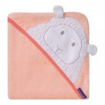 ClevaMama Bamboo Apron Baby Bath Towel 98x104cm - Lily the Lamb