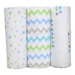 Bubble Bamboo Wrap - Big Blue Sky Boys (3-Pack)