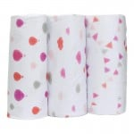 Bubble Bamboo Wrap - Dream Time Pinks Girl (3-Pack)