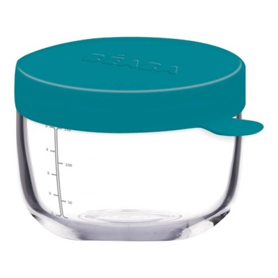 Beaba Glass & Silicone Container 150ml - Peacock
