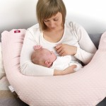 Red Castle | Cocoonababy Big Flopsy Maternity and Nursing Pillow - Fleur de Coton, Pearl Grey