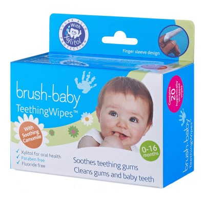 Brushbaby TeethingWipes (0-16 months) With Camomile