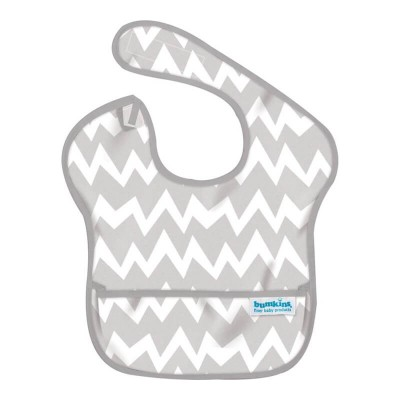Bumkins SuperBib Grey Chevron