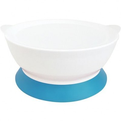 Calibowl 12oz Toddler Suction Bowl with Lid - Blue