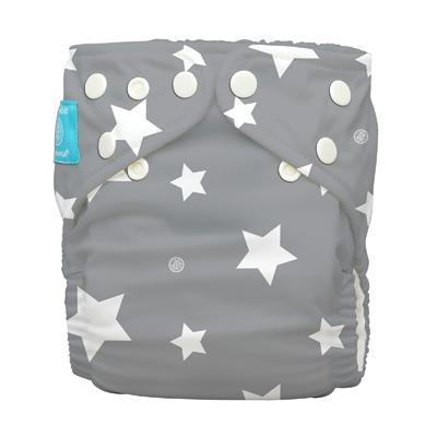 Charlie Banana 1 Diaper 2 Deluxe Inserts - Twinkle Little Star White (One Size Hybrid AIO)