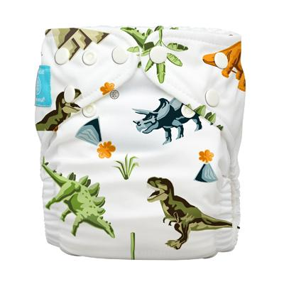 Charlie Banana 1 Diaper 2 Deluxe Inserts - Dinosaurs (One Size Hybrid AIO)