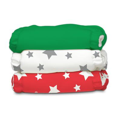 Charlie Banana 3 Diapers 6 Deluxe Inserts - Tuscany (One Size Hybrid AIO)