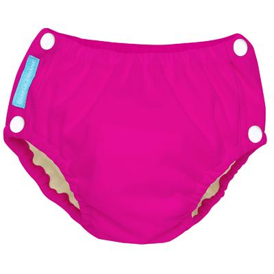 Charlie Banana Reusable Easy Snaps Swim Diaper - Hot Pink