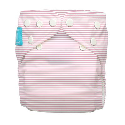 Charlie Banana 1 Diaper 2 Deluxe Inserts - Pencil Stripes Pink (One Size Hybrid AIO)