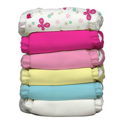 Charlie Banana 6 Diapers 6 Inserts Butterfly X-Small