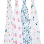 aden + anais Classic Swaddles 4-Pack - Salty Kisses