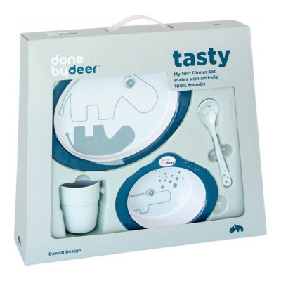 Done by Deer Dinner Set, Contour - Dark Blue