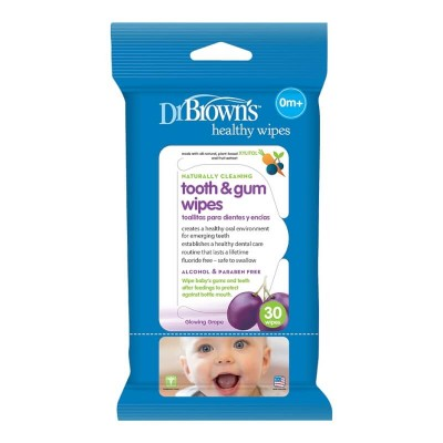 Dr Brown's Cleaning Wipes 30s - Tooth & Gum