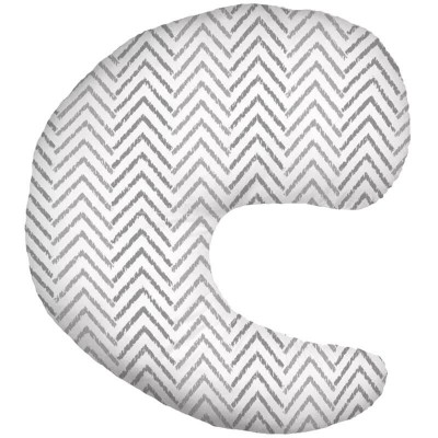Dr Brown's Gia Angled Nursing Pillow with Cotton Cover - Grey Chevron