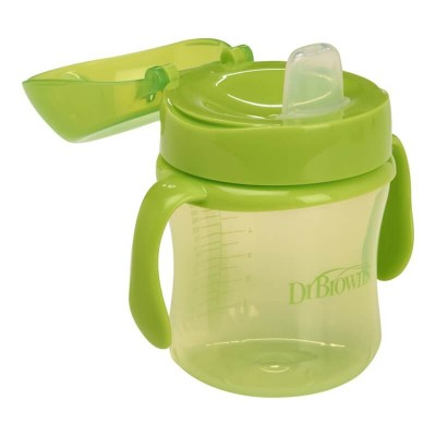 Dr Brown's Soft-Spout 6oz Cup with Handle 6m+ (Green)