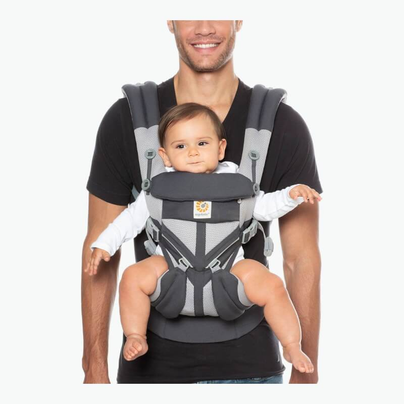 c0e4ddb92a3 Ergobaby All-In-One OMNI 360 Baby Carrier - Cool Air Mesh - Carbon Grey
