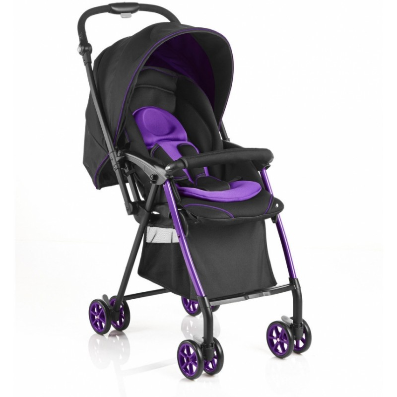 evenflo 50cm seat height reversible handle baby stroller black purple. Black Bedroom Furniture Sets. Home Design Ideas